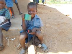 Grade 1 children drinking maheu